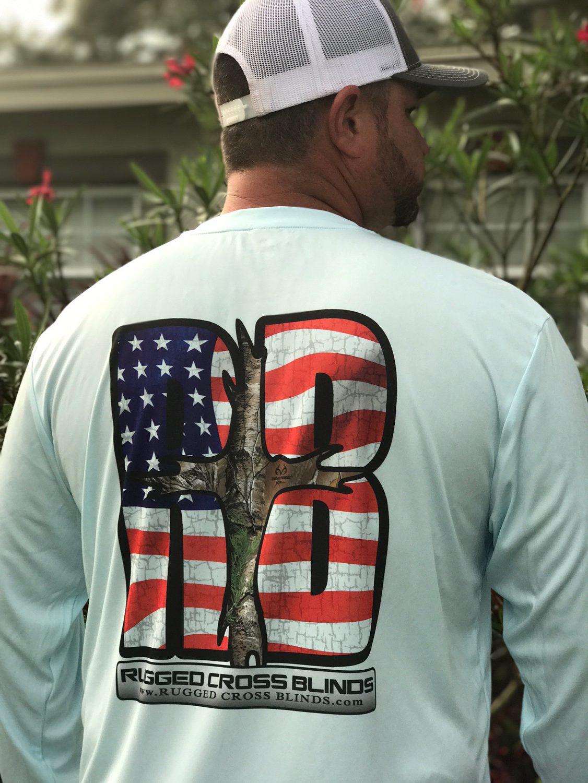 RCB AMERICAN FLAG LOGO MICROFIBER LONG SLEEVE  a10b6a5e2e0